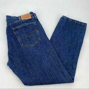 Levis 505 Jeans 38x32 Mens Blue Cotton Denim Pants
